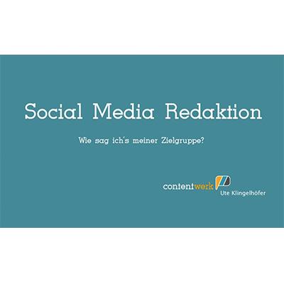 Vortrag Social Media Redaktion