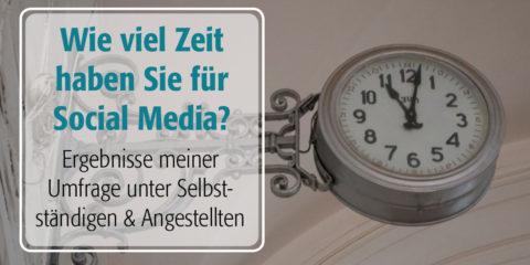 Wie viel Zeit kostet Social Media?