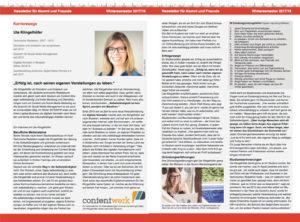 Ute Klingelhöfer über ihre Erfahrungen als Selbstständige im Alumni Magazin der HS Karlsruhe